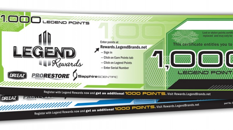 Win Legend Reward points by completing the 2016 Cleanfax Carpet Cleaning Survey