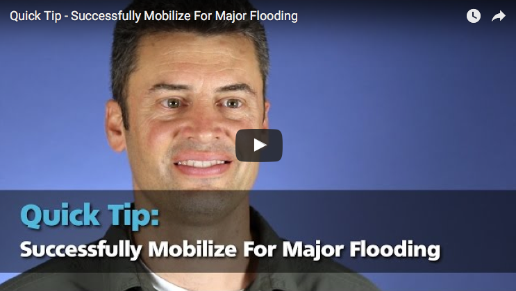 Disaster restoration mobilizing for major flooding and storm chasing